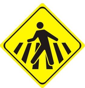 placa pedestre